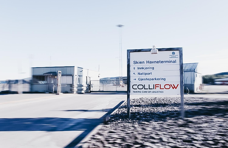 Wejście do magazynów Colliflow 3PL