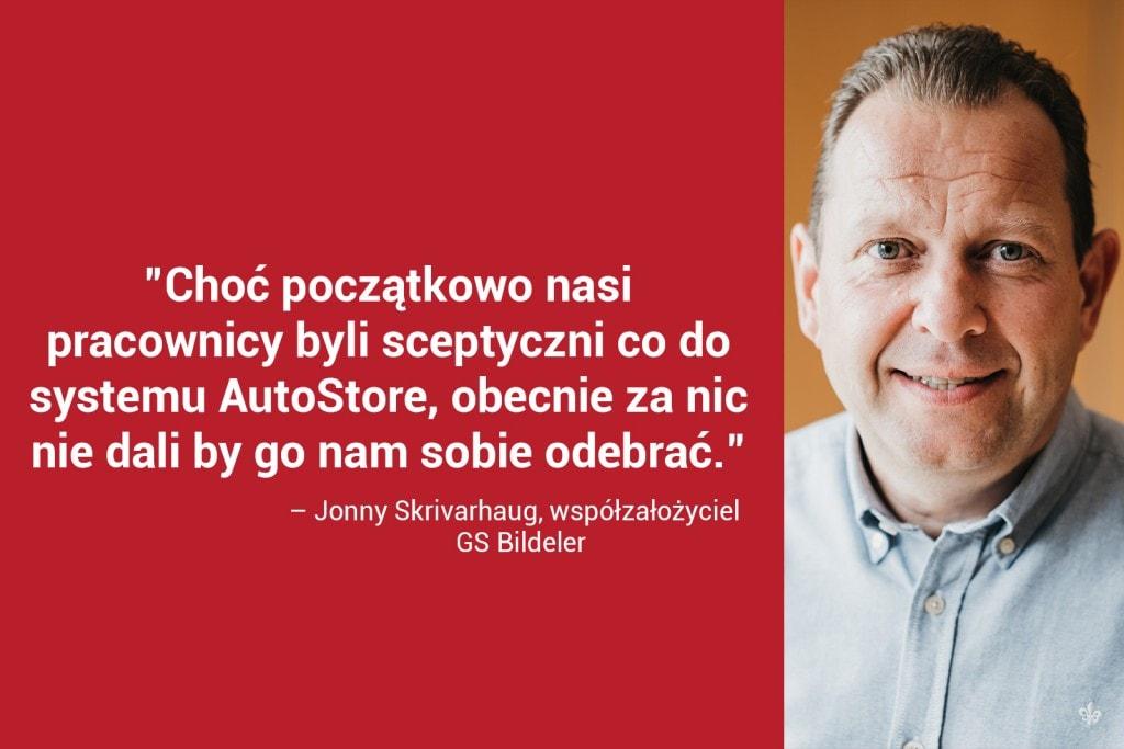 Jonny Skrivarhaug, współzałożyciel GS Bildeler