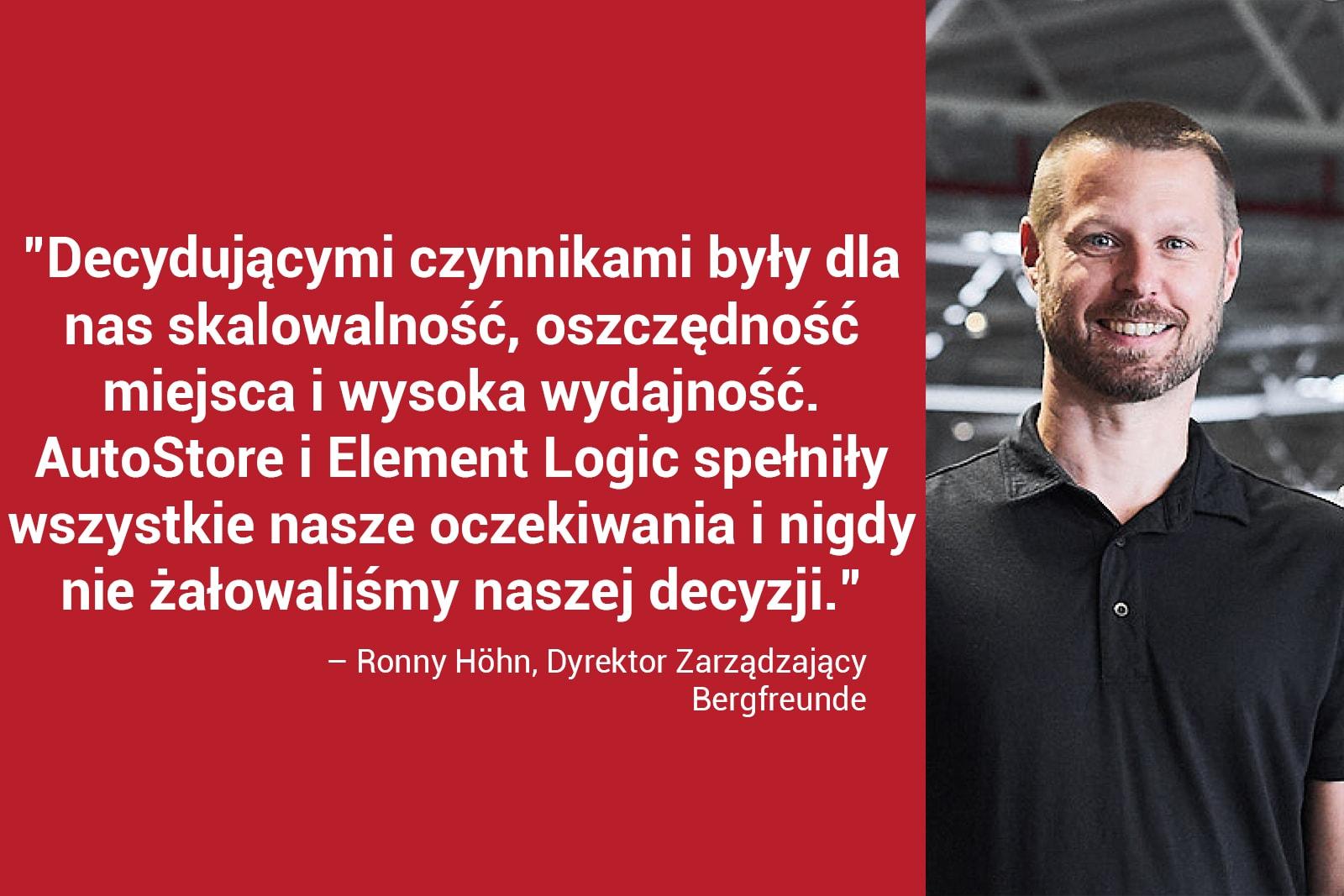 Ronny Höhn, Dyrektor Zarządzający Bergfreunde